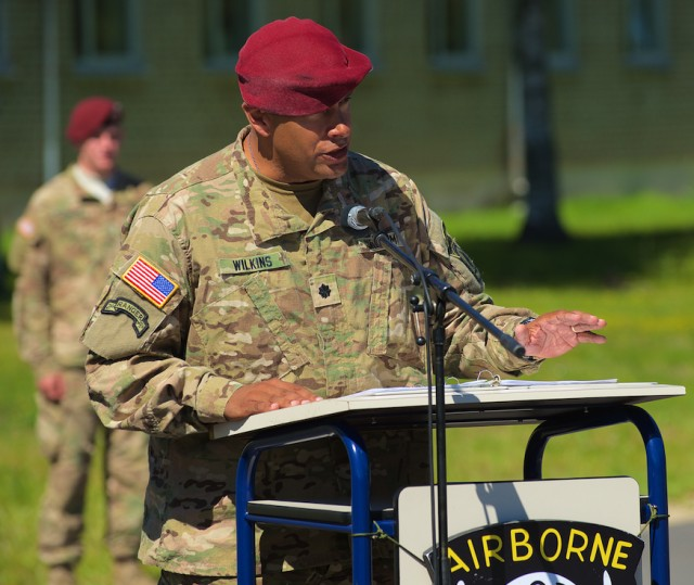 Italy-based U.S. airborne battalion conducts change of command in Latvia