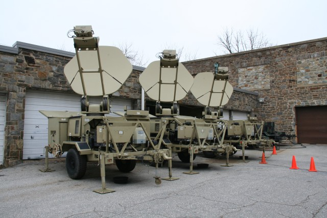 At the end of July 2015 Soldiers will be able to requisition spare parts for Warfighter Information Network-Tactical (WIN-T) Increment 1 elements, such as for these Satellite Transportable Terminals, from the Standard Army Supply System instead of relying on contractor operated Regional Support Centers.  (U.S. Army photo by Amy Walker, PEO C3T)