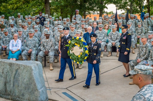 "The Chemical Corps Regiment observes the annual ""Honor to the Fallen"" Sunrise Service June 25 at  Memorial Grove."