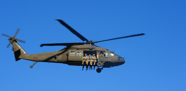 'Sky Soldiers' perform rotary wing airborne operation in Latvia