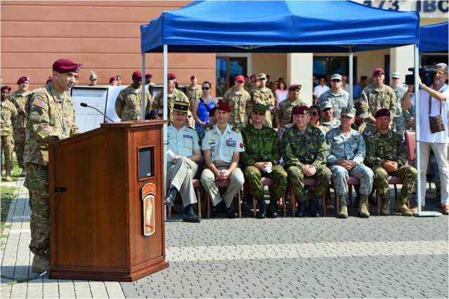 Col. Anderson's first remarks