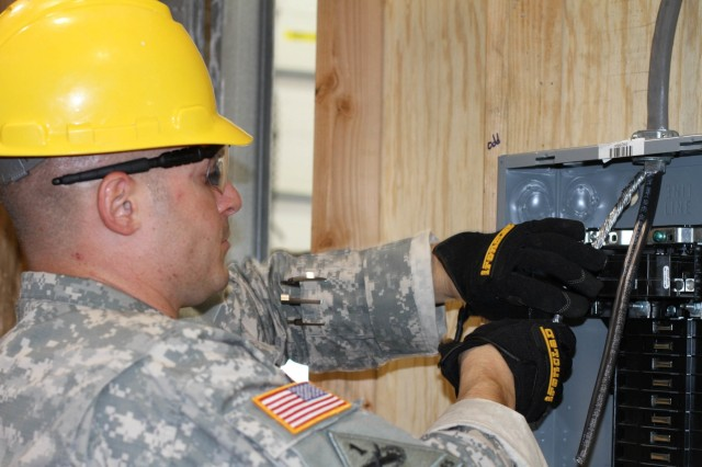 Students learn the basics of installing electrical wires and devices, as well as working with circuitry of all types commonly found in homes and businesses, during the 80th Training Command's Interior Electrician Course at Fort Dix, N.J., June 7, 2015.