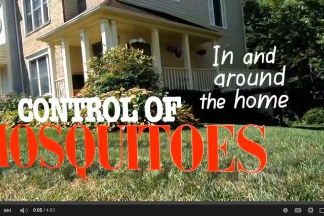 To better educate Army personnel on what they can do to protect against mosquito-borne disease, the Entomology Program of the Army Institute of Public Health has released a video on controlling mosquitoes in and around the home.