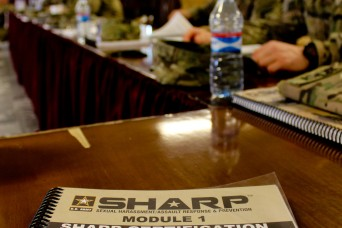 Thirty-two civilians and military members are now SHARP certified after taking an 80-hour course that included lessons in victimology, victims' rights, sexual harassment intervention techniques, and complaint processing.