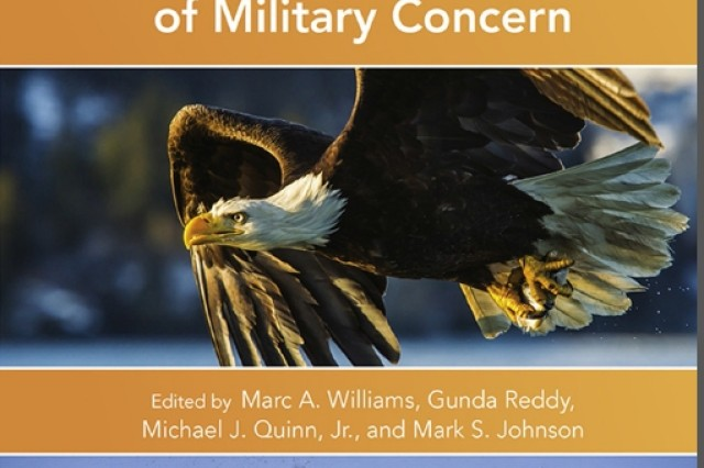 Above is the cover for the toxicology book: Wildlife Toxicity Assessments for Chemicals of Military Concern.