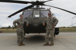 Father, daughter Army National Guard pilots fly together