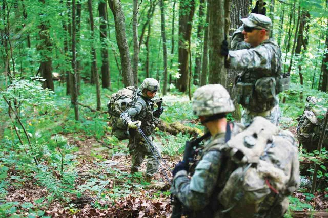 U.S. Army Soldiers conduct Mountaineering training during the Ranger Course on Mount Yonah in Dahlonega, Ga., July 14, 2015.