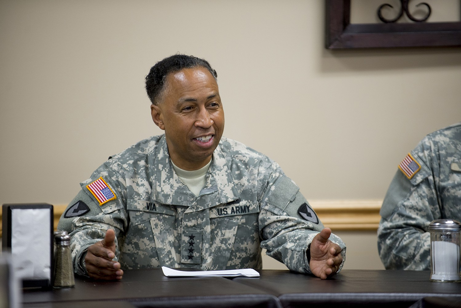 four star general gives leadership advice to cadets lieutenants
