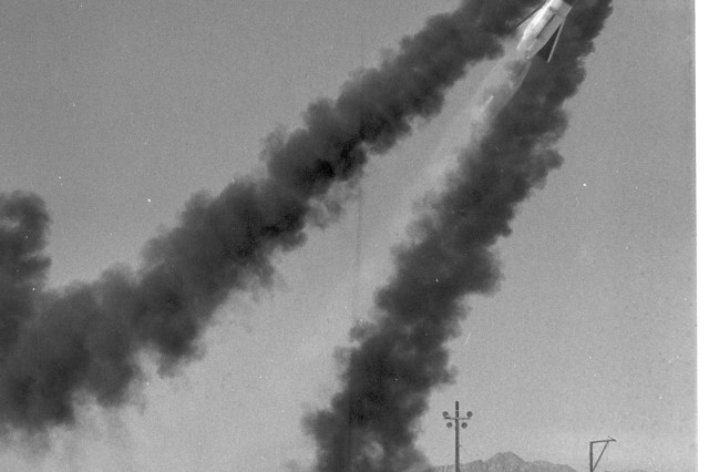 The Lance short range ballistic missile's first firing on March 15, 1965.