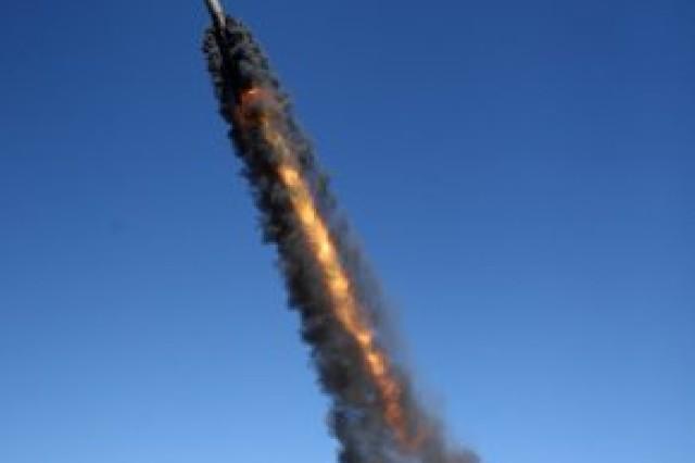 A Lance short range ballistic missile during a recent launch.