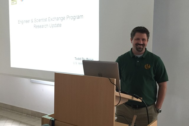 Dr. Todd Du Bosq, a physicist with the U.S. Army Communications-Electronics Research, Development and Engineering Center, participated in the Engineer and Scientist Exchange Program at the Fraunhofer Institute of Optronics, System Technologies and Image Exploitation in Germany.