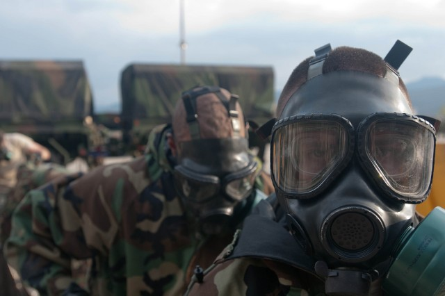 FILE PHOTO: The 20th CBRNE Command (Chemical, Biological, Radiological, Nuclear, Explosives) is participating in Exercise Ulchi Freedom Guardian in South Korea, Aug. 17 - 28.