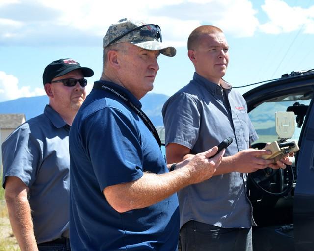 Uomo Applique' Kit demostration at U.S. Army Dugway Proving Ground, Utah.