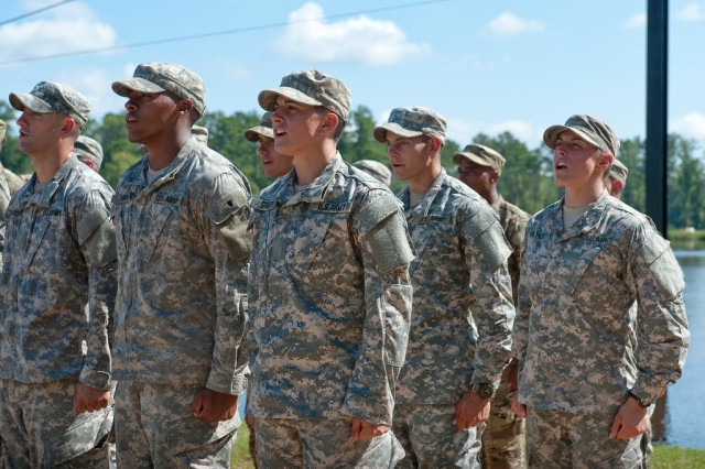 At Fort Benning, Ga., 96 Soldiers graduate Ranger School Aug. 21, 2015.  Among them, for the first time ever, are two women.