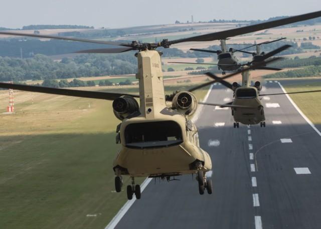 12TH Combat Aviation Brigade receives brand new CH-47F MYII Chinooks