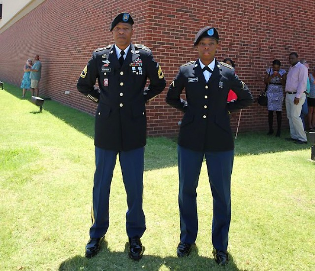 Soldier's daughter joins him in serving the nation