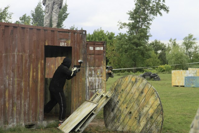 Paintball game pits Orange football players against Catamount Soldiers