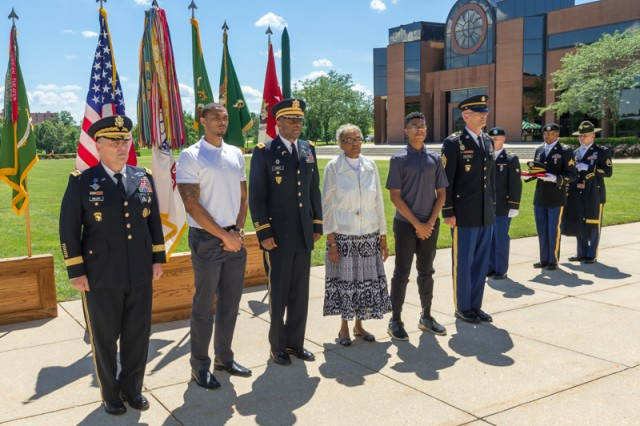 Gen. Mark Milley, 39th Chief of Staff of the Army, presided over the promotion ceremony for Brig. Gen. Kevin Vereen, U.S. Army Military Police School commandant, held at the Maneuver Support Center of Excellence Plaza, Aug. 20. Vereen was formerly Milley's executive officer at FORSCOM.
