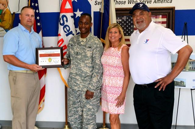 407th AFSB recognizes local YMCA