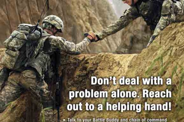 Suicide prevention starts with you and your attention to the Soldiers you know best.