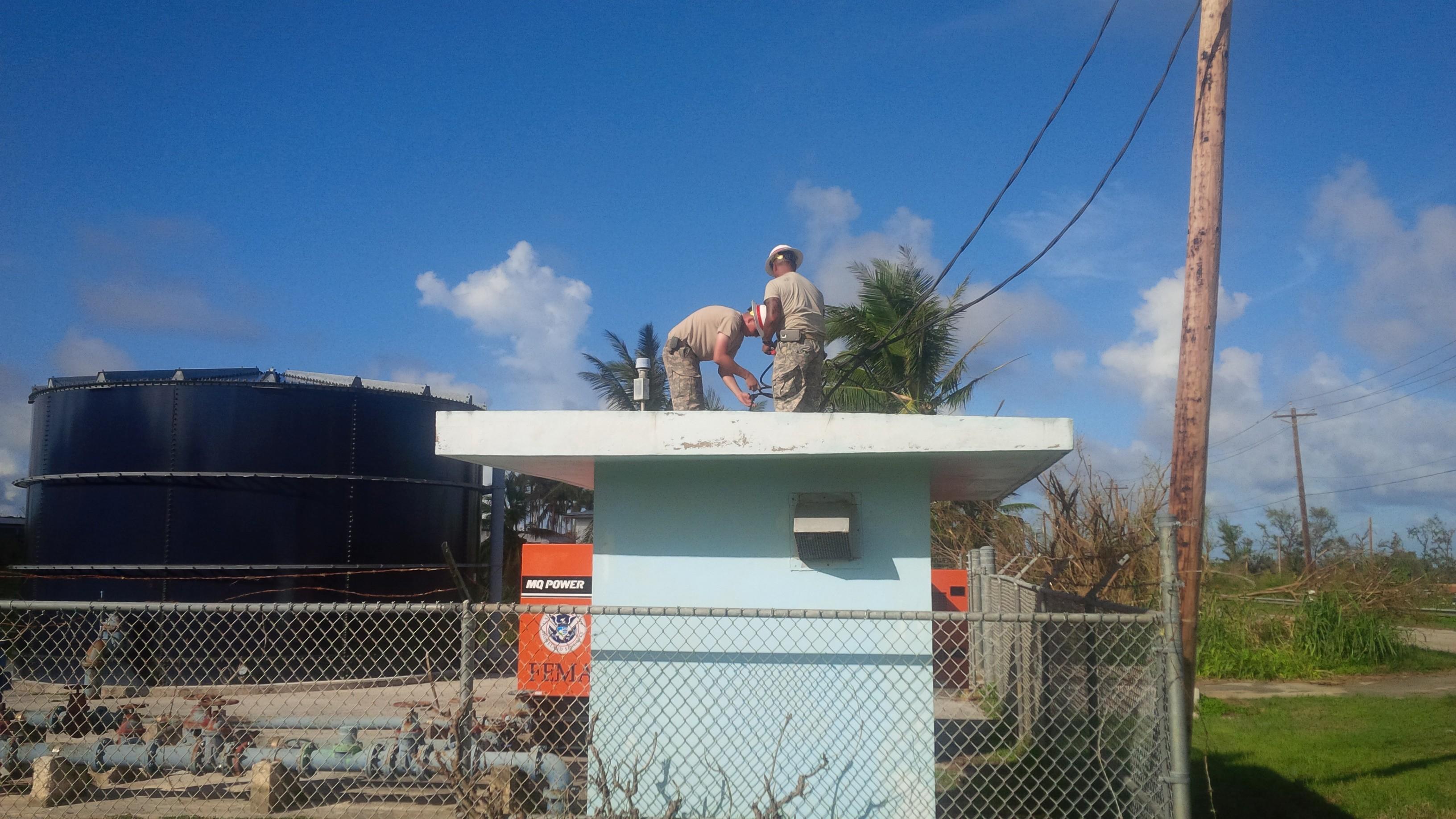 Delta pany power restoration of electricity on Saipan