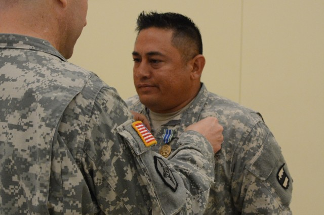 Staff Sgt. Joseph Cook, a native from Beaver Creek, Ohio, won 1st place in the driver category of the 80th Training Command (TASS) Logistics Training 'Truck Rodeo' competition on Sept. 4, 2015. Cook, a (MOS) competitor from 3/399th Logistic Support Battalion received an Army Achievement Medal, plaque and 80th Training Command (TASS) coin.