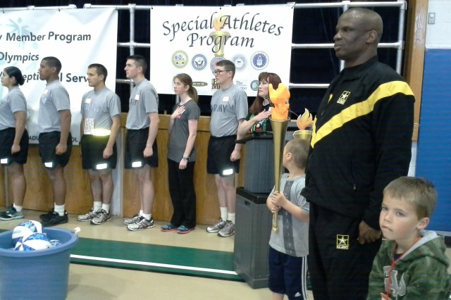 "PRESIDIO OF MONTEREY, Calif. -- Presidio's inaugural ""special athletes"" program was held at Porter Youth Center April 26."