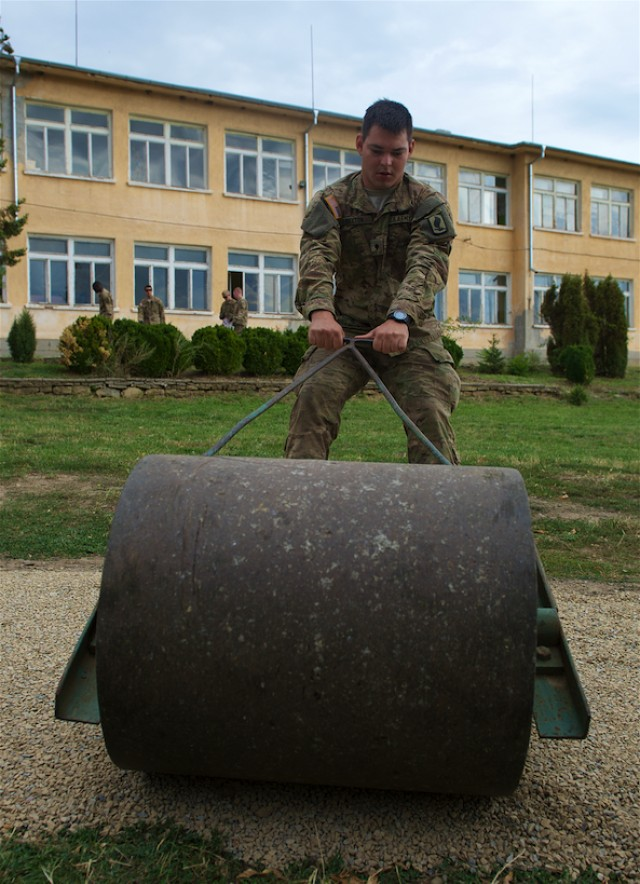 Sky Soldiers lead outreach project at Bulgarian school