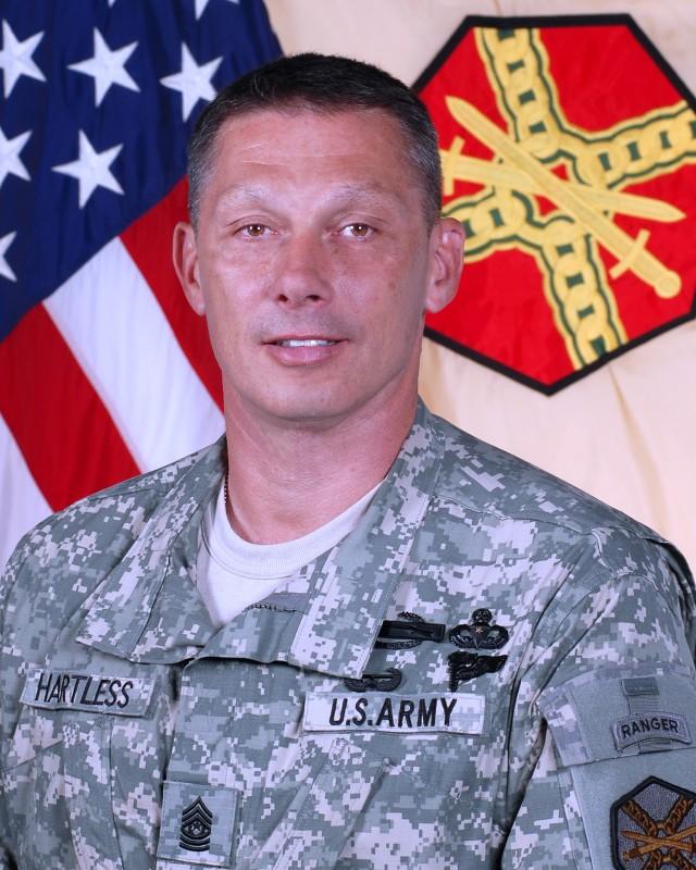 U.S. Army Installation Management Command Command Sgt. Maj. Jeffrey Hartless
