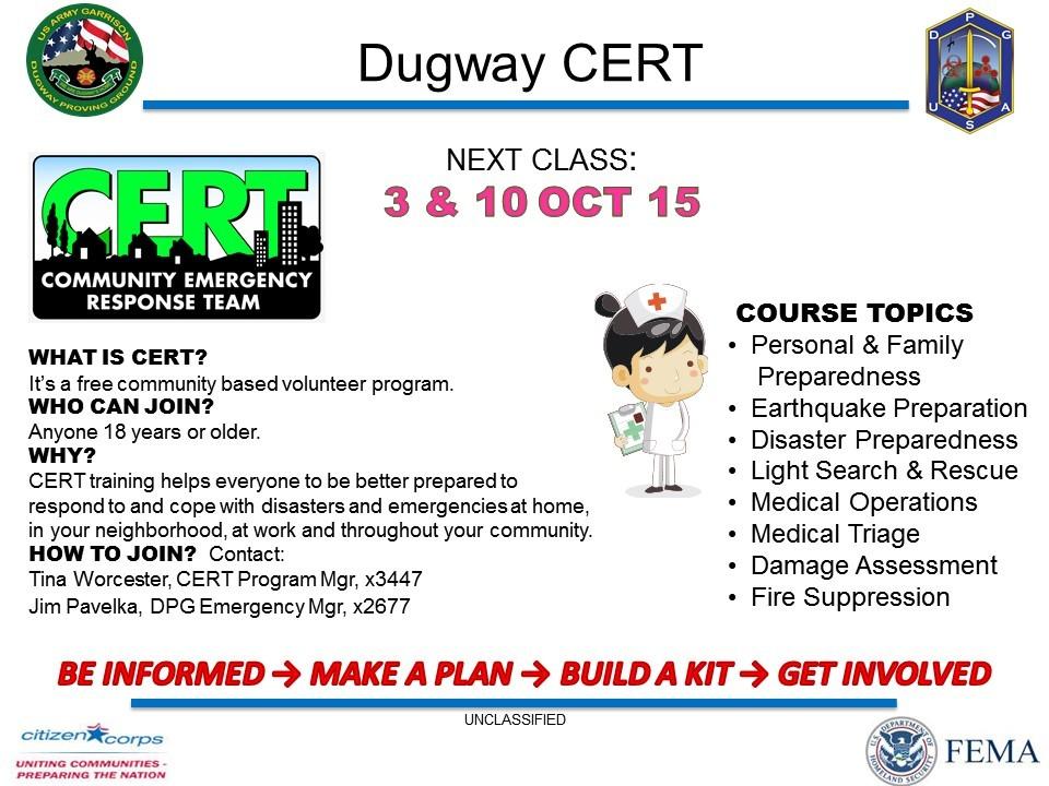 community emergency preparedness and re