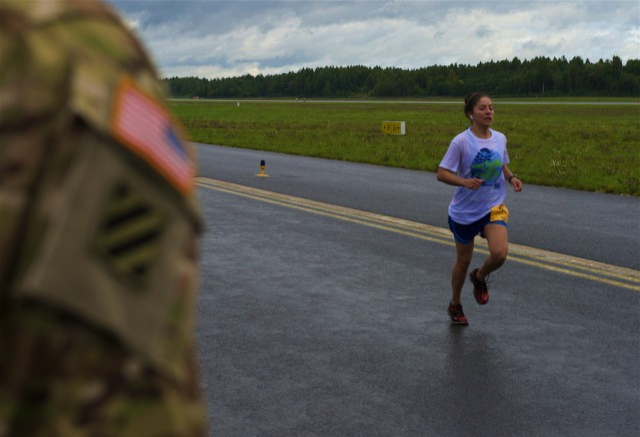 Shadow Run for Army Ten-Miler held on Latvian airfield