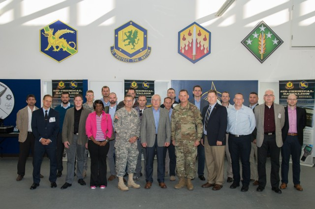 A German military delegation visits the 20th CBRNE Command (Chemical, Biological, Radiological, Nuclear, Explosives) on Aberdeen Proving Ground, Md., Sept. 23.