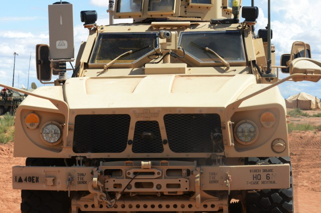 A Soldier readies his vehicle for the intensive NIE 16.1 exercise. The Network Integration Evaluation, or NIE 16.1, which takes place, Sept. 25 through Oct. 8, 2015, will be the largest NIE ever, since the exercises started in 2011. Joint partners as well as more than a dozen NATO countries will participate, along with Australia and New Zealand.