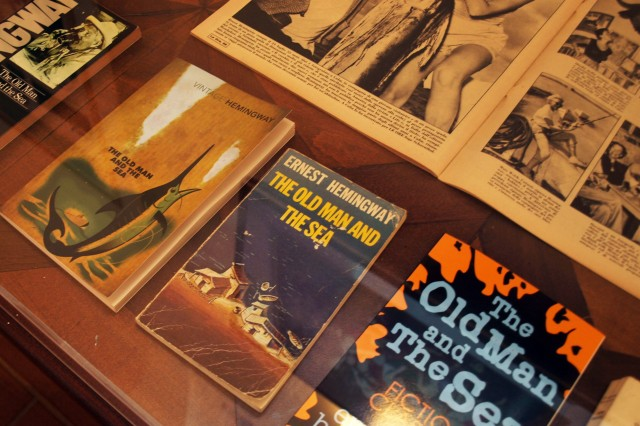 Display of The Old Man and the Sea, source of Ernest Hemingway's Pulitzer Prize and subsequent Nobel Prize for LIterature.