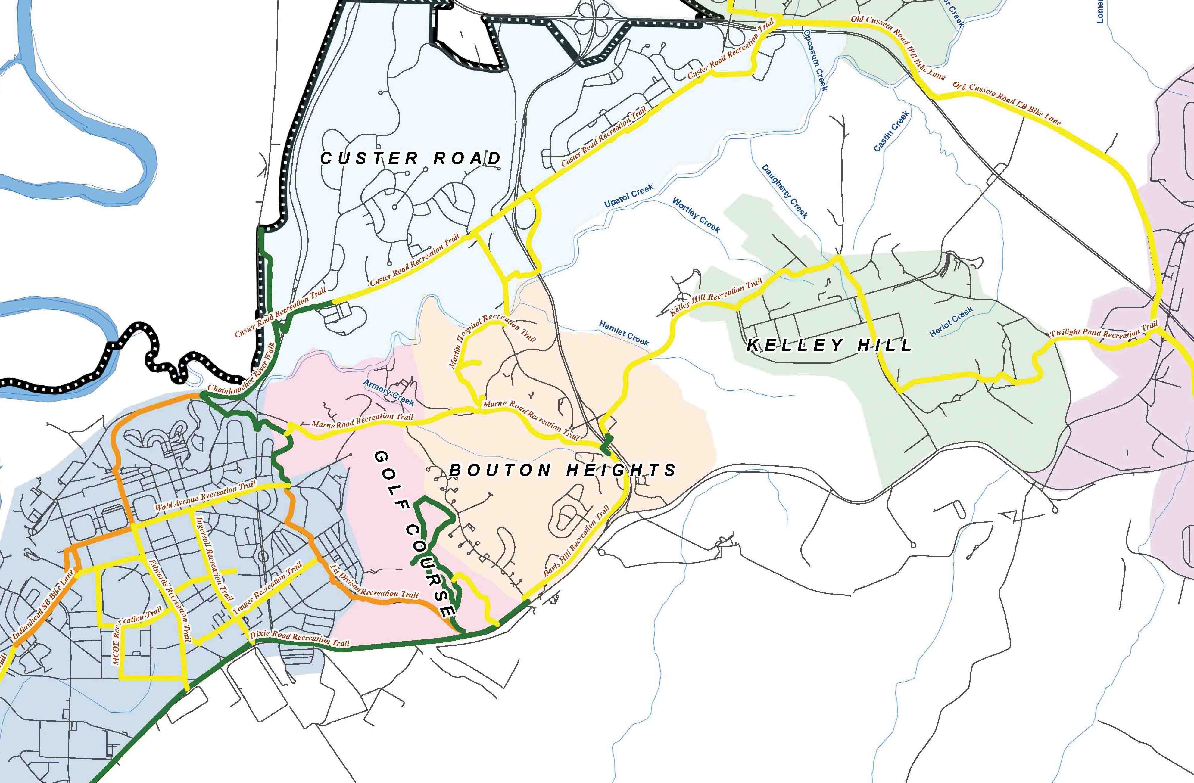 Ft Benning Map 10th Division recreation trail now open | Article | The United  Ft Benning Map