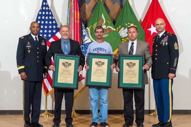 Three retired sergeants major were inducted into the MP Hall of Fame during, a ceremony held at Lincoln Hall Auditorium. The inductees were Command Sgt. Maj. Charles Kirkland, Command Sgt. Maj. Tony McGee and Sergeant Major Gilbert Verbist.
