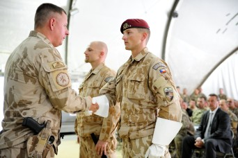A ceremony was held to transfer authority from Czech 4th Force Protection Company to Czech 5th Force Protection Company.