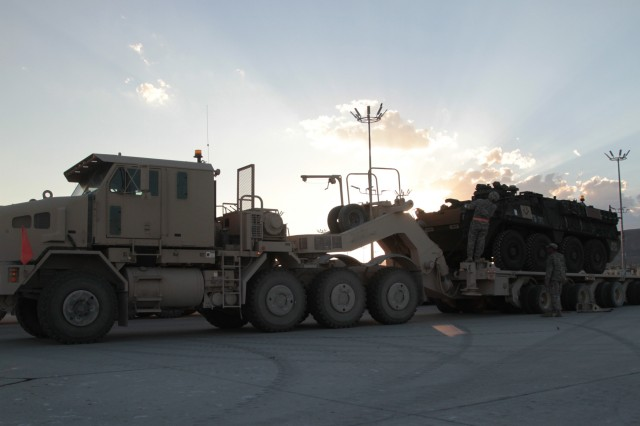 Strykers take to the sky at NTC