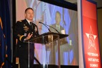 Army Vice Chief of Staff Gen. Daniel B. Allyn challenges the industry to find jobs for Soldiers, who will be leaving the Army as part of force reductions during remarks at the Veterans Initiative Summit in Washington, D.C., Oct. 7, 2015.