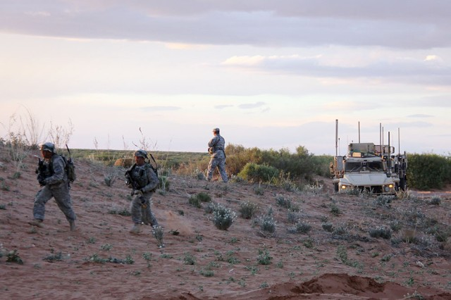 Through mobile communications technology that connects all echelons of a brigade combat team, the network reduces units' reliance on fixed infrastructure, extends their range of communications and improves battlefield awareness at the lowest levels.