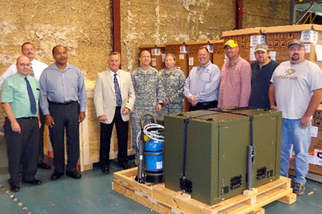 The Army will begin fielding a new water-efficient vacuum steam sterilizer, the model P2131 Automated Field Steam Sterilizer, for combat support hospitals that only uses 10 gallons of water to process up to 100 loads of sterilized medical instruments.