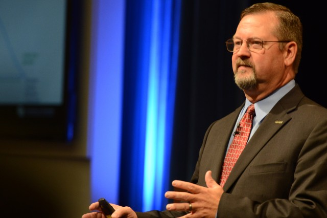 "Dr. George Reed addresses toxic leadership, Oct. 15 2015, at a Pentagon Chaplains Office-sponsored seminar, ""Tarnished: Toxic Leadership in the U.S. Military"" in the Pentagon Auditorium. The auditorium was packed with standing room only."