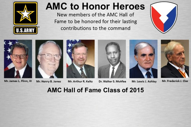 REDSTONE ARSENAL, Ala. -- The U.S. Army Materiel Command will induct six new members into its Hall of Fame Tuesday, Oct. 27 at 10 a.m. in the Villar room here.