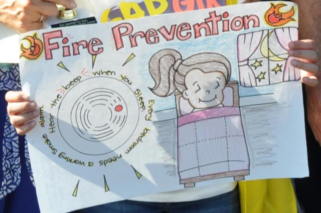 Pictured here is the award-winning creation that earned Janelle Alicea her grand prize in the 2015 Fire Prevention Week poster contest.