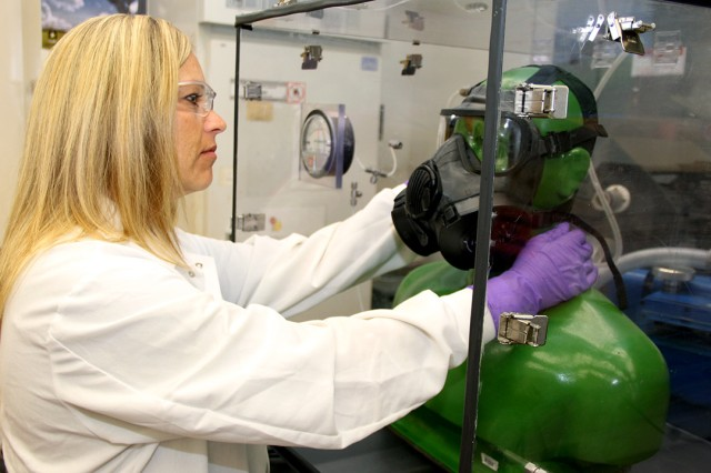 The Edgewood Chemical Biological Center's science and technology expertise has protected the United States from the threat of chemical weapons since 1917. Since that time, the center has expanded its mission to include biological materials and emerges today as the nation's premier authority on chemical and biological defense. (U.S. Army photo)