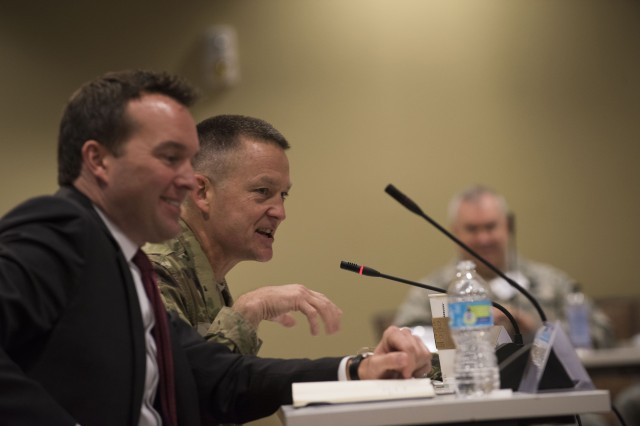 Army Gen. Daniel Allyn, vice chief of staff of the Army, addresses the National Guard Bureau Senior Leadership Conference, Colorado Springs, Colorado, Oct. 28, 2015. (U.S. Army National Guard photo by Staff Sgt. Adam Fischman)