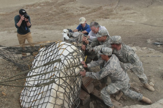 The New Mexico Army National Guard conducts a civil-military community support project assisting the New Mexico Museum of Natural History and Science, Oct. 28-29, 2015.