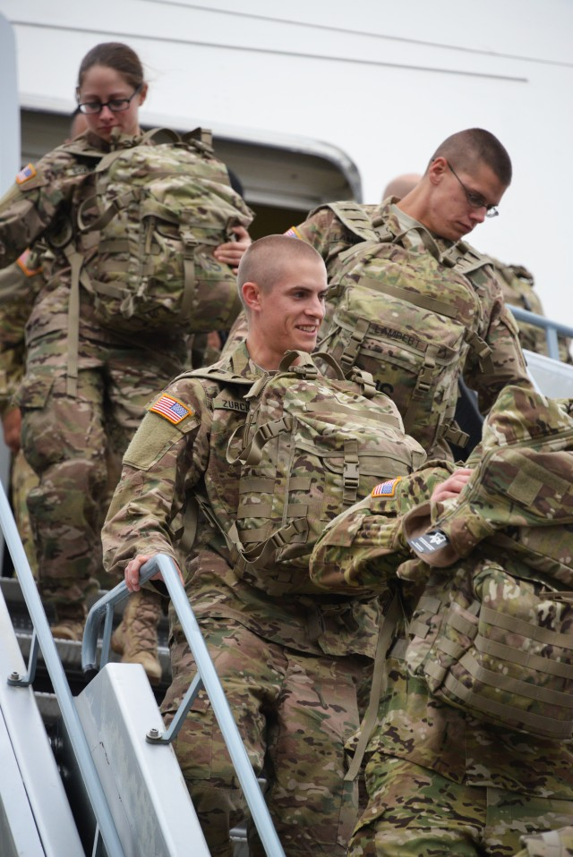 Regionally Allocated Forces from 1st CAV arrive in Germany