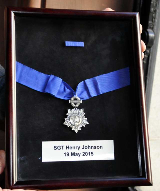 Henry Johnson honored with New York Medal for Valor