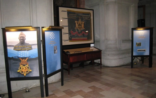 Henry Johnson Medal of Honor displayed in State Capitol